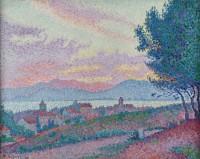 Paul-Signac-Vue-de-ST-coucher-de-soleil-au-bois-de-pins
