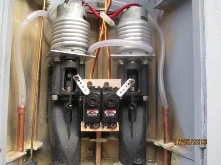 Idrogetti istallati sul modellino V200 GdF