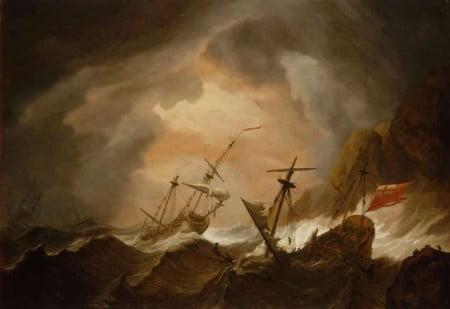 Naufragio due navi inglesi