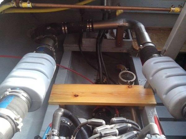 Motore destro Sistema di scarico