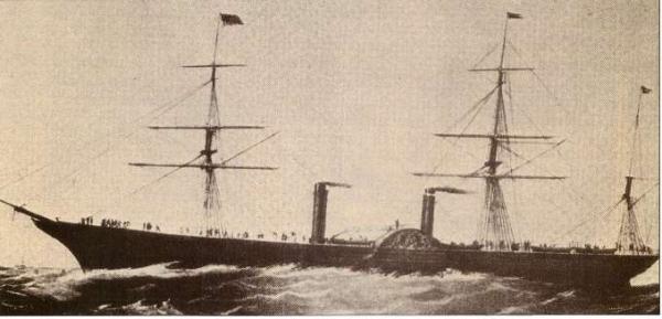 Piroscafo Persia della Cunard Line 1856,