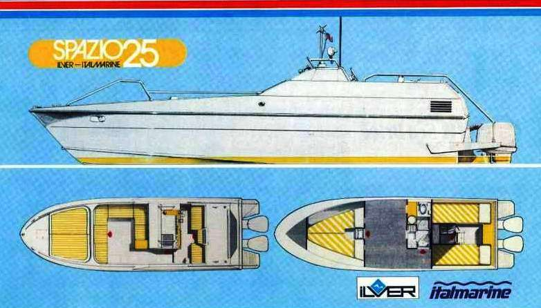 "Ilver-Italmarine ""Spazio - 25""viste ortogonali"