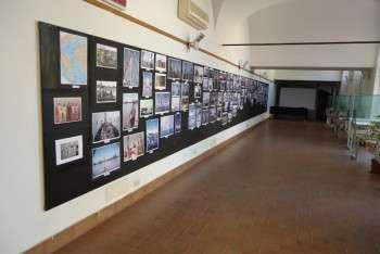 Immagine della Mostra dedicata ai viaggi in Antartide di Giovanni Ajmone-Cat con il suo San Giuseppe II