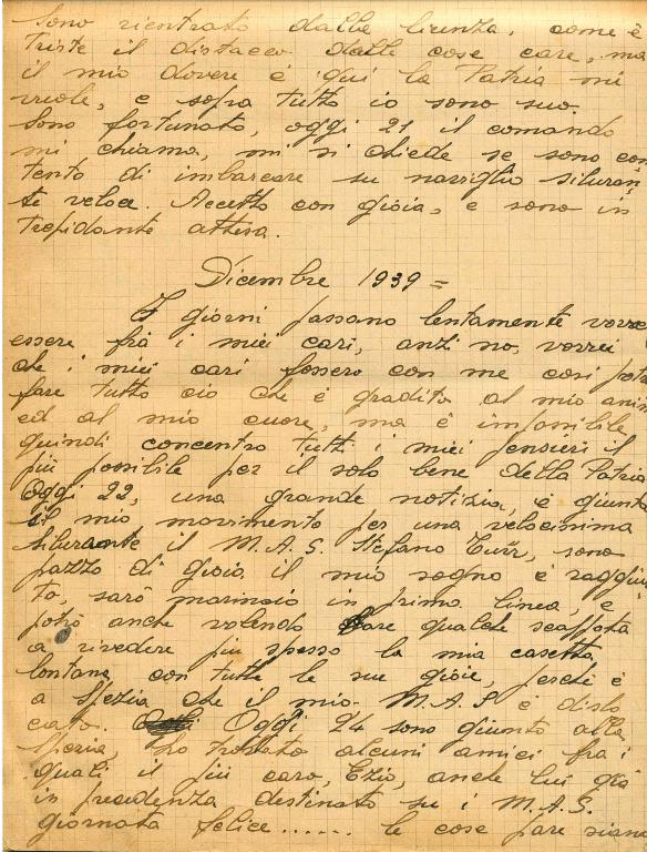 Stralcio manoscritto Diario Basagni - pag 2