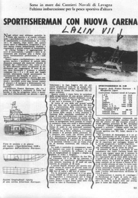 Articolo giornale su Lalin VII