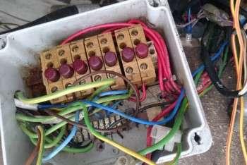 impianto elettrico vecchio - rimozione