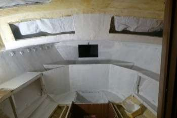 pitturazione isolamento interni Corsair....
