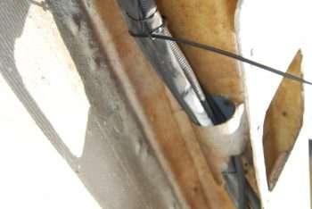 passaggio cavi dritta impianto originale da prua a poppa