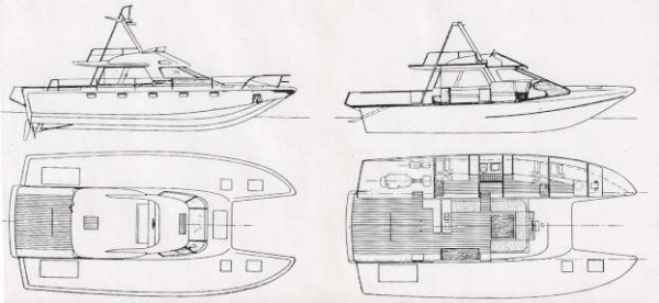 Barca classica Blue Manta Sciallino, Cat Fisherman di Franco Harrauer