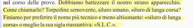 S.L.C. - Siluro Lunga Corsa o Siluro Lenta Corsa? - di Lino Mancini