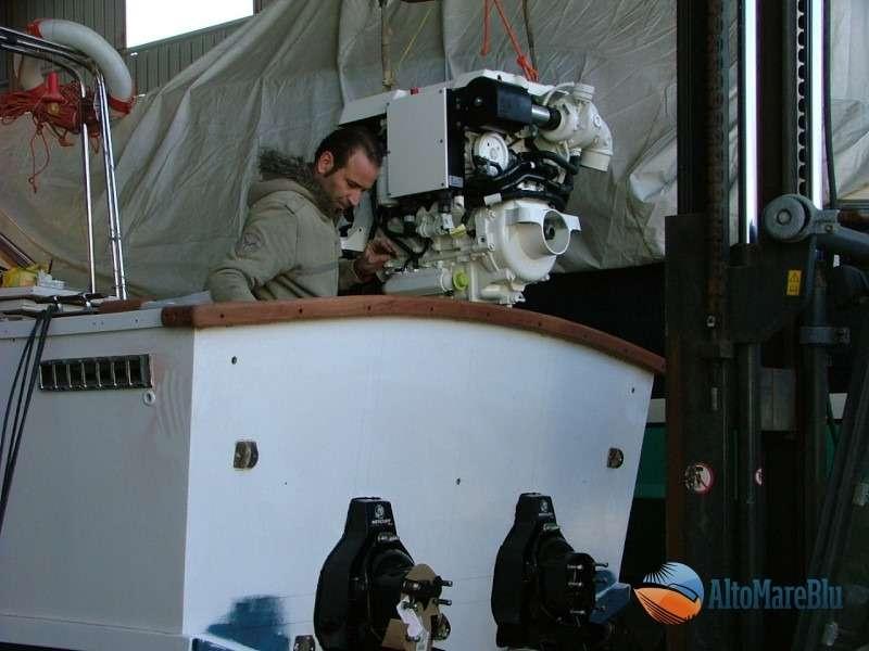 Restauro barca classica Sarma Blue Star