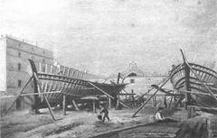Olio Lombardi Arsenale Anzio 1800