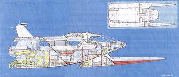 Disegno imbarcazione Harrauer 100 nodi