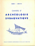 Cahiers D'Archeologie Sub...N.1-1972