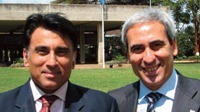A dx President e UIM Chiulli con Satinder Bindra, Direttore di UNEP