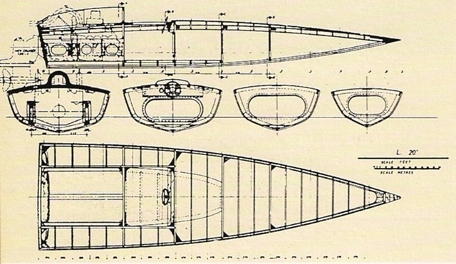 """Imbarcazione L20 di Renato """"Sonny"""" Levi"""
