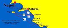 Distanze tra Costiera  Amalfitana e Cilento