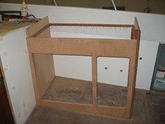 Creazione mobiletto cucina frigo b