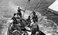 la famiglia Parodi Delfino in vacanza negli anni '30
