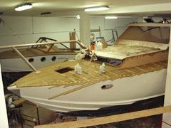 Restauro barca classica Zarcos 12m
